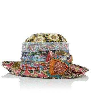 Chapeau cloche en coton fleuri avec noeud GREVI