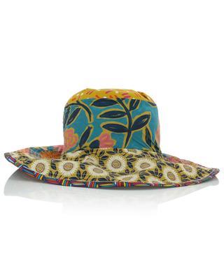 Chapeau fleuri en coton à large bord GREVI