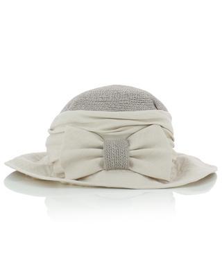 Chapeau asymétrique en lin et chanvre avec noeud GREVI