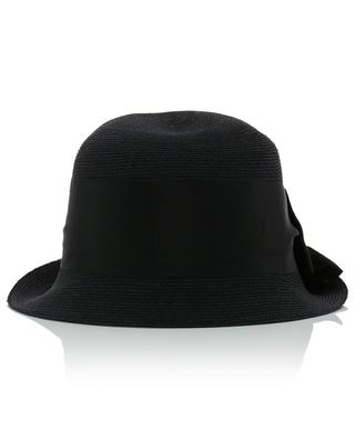 Manila hemp asymmetrical cloche hat with bow GREVI