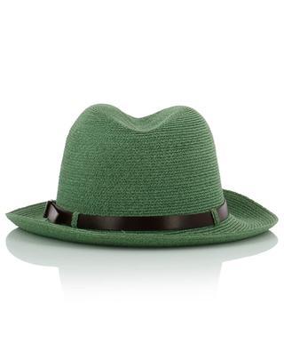 Manila hemp hat with leather band GREVI