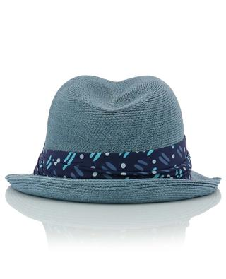 Manila hemp hat with printed ribbon GREVI