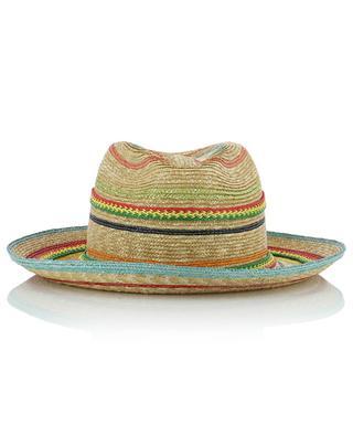 Chapeau de paille avec bandes multicolores GREVI