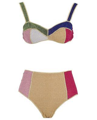 High-rise bikini in multicolour Lurex Lumière OSEREE