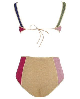 High-rise bikini in multicolour Lurex Lumière OSEREE