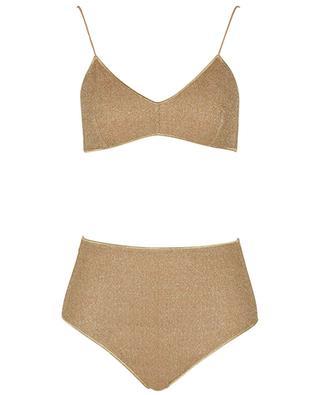 Lurex-Bikini mit Höschen mit hoher Taille Lumière OSEREE