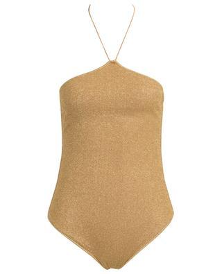 Lumière Lurex holder neck one-piece swimsuit OSEREE