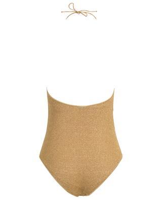 Neckholder-Badeanzug aus Lurex Lumière OSEREE