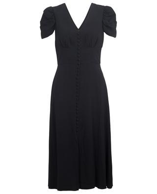 Margot puff sleeves midi dress SALONI