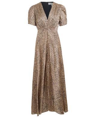 Lea Long leopard print satin dress SALONI