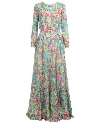 Isabel Summer Confetti multicolour georgette maxi dress SALONI