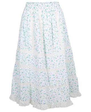 Eponda flared floral cotton veil midi skirt LOVESHACKFANCY