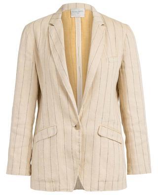 Supple striped linen and cotton blazer FORTE FORTE