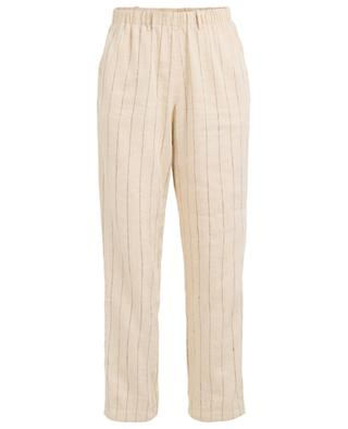 Striped linen and cotton trousers FORTE FORTE
