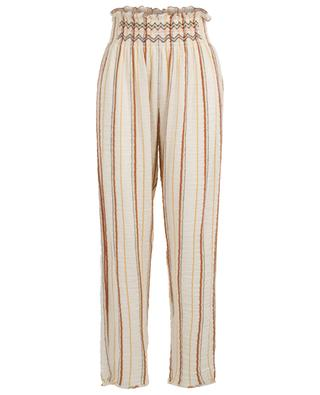 Lightweight high-rise trousers with stripes FORTE FORTE