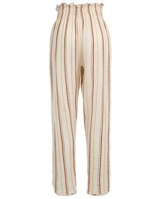 Leichte Hose mit hohem Taillenbund und Streifen FORTE FORTE