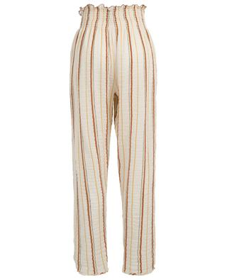 Pantalon léger taille haute orné de rayures FORTE FORTE