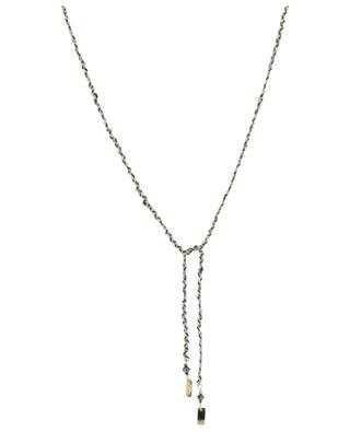 Armband zum Knoten aus Silber und khakifarbenem Faden Luxume MARIE-LAURE CHAMOREL