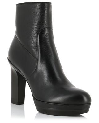 Grained leather heeled platform ankle boots SANTONI