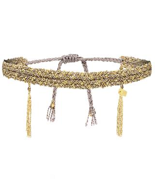 Flechtarmband aus Seide und goldenem Silber Luxume Luxury Gri-Gri MARIE-LAURE CHAMOREL