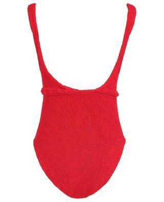 Solitaire seersucker one-piece swimsuit HUNZA G