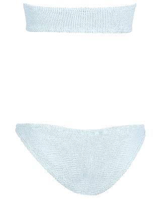 Gabrielle seersucker bandeau bikini HUNZA G
