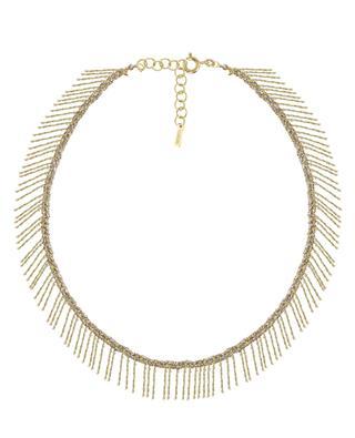 Geflochtene goldene Halskette mit Fransen Luxume MARIE-LAURE CHAMOREL