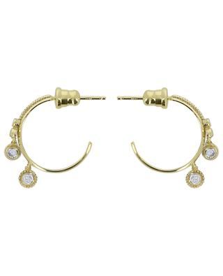 Goldene Creolen mit weissen Kristallen Luxume MARIE-LAURE CHAMOREL