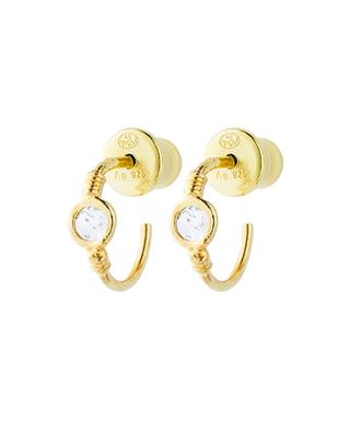 Goldene Mini-Creolen mit  Polki-Diamanten Luxume 8 mm MARIE-LAURE CHAMOREL