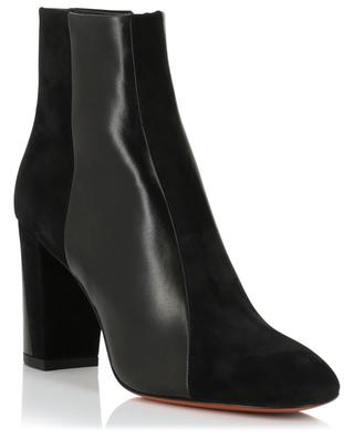 Suede and smooth leather ankle boots with heels SANTONI