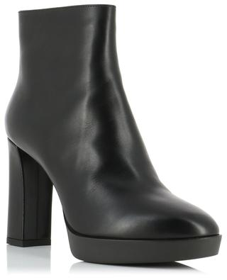 Heeled leather ankle boots with small platforms SANTONI