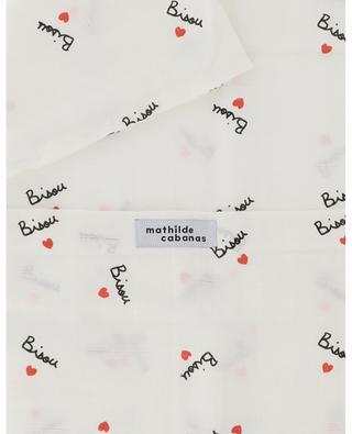 Rechteckiger Kissenbezug aus Baumwolle Bisou MATHILDE CABANAS