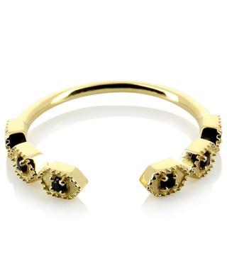 Tara golden open ring with zircons BE MAAD
