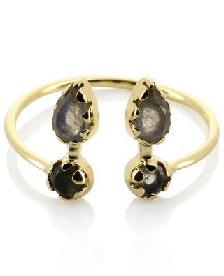 Offener goldener Ring mit Labradorit Safra BE MAAD