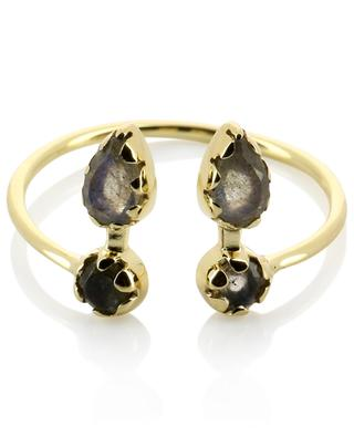 Safra open golden ring with labradorite BE MAAD