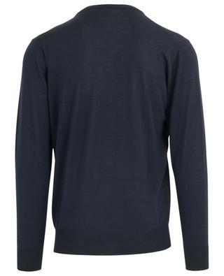 Virgin wool and silk fine round neck jumper MAURIZIO BALDASSARI