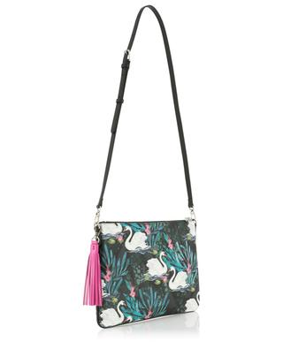 Merita Swan printed coated fabric clutch FONFIQUE