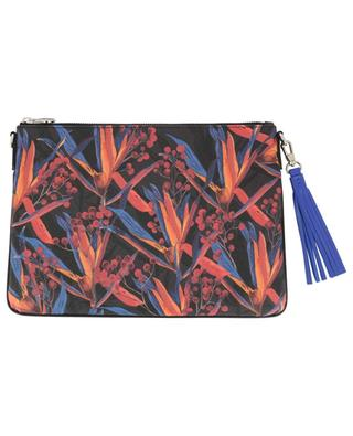 Merita Cradle Lily printed coated fabric clutch FONFIQUE