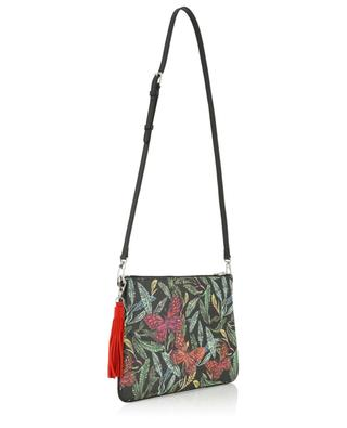 Merita Botanicals printed coated fabric clutch FONFIQUE