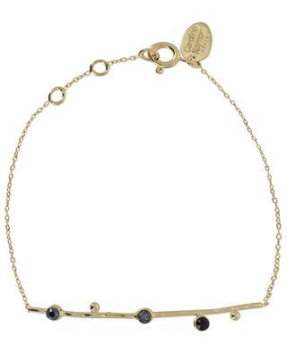Goldenes Armband mit grauen und schwarzen Kristallen Drib CAROLINE NAJMAN
