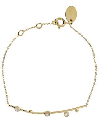 Goldenes Armband mit weissen Kristallen Drib CAROLINE NAJMAN