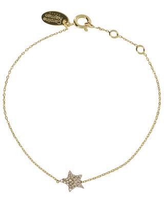 Goldenes Sternarmband mit weissen Kristallen Kuchi Star CAROLINE NAJMAN