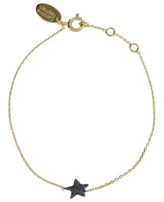 Goldenes Stern-Armband mit grauen Kristallen Kuchi Star CAROLINE NAJMAN
