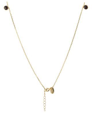 Moorea golden necklace with garnet CAROLINE NAJMAN
