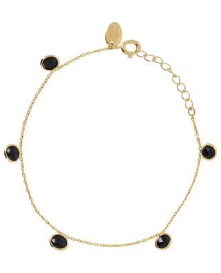 Goldenes Armband mit Onyx Moorea CAROLINE NAJMAN