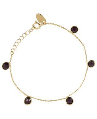 Goldenes Armband mit Granat Moorea CAROLINE NAJMAN
