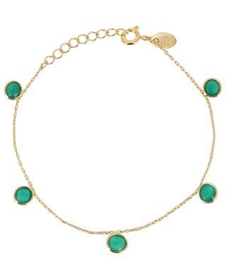 Goldenes Armband mit grünem Quarz Moorea CAROLINE NAJMAN
