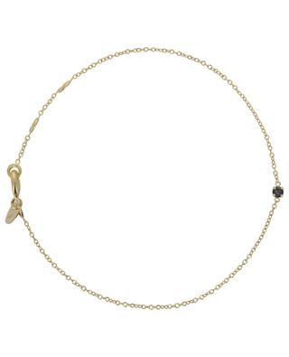 Goldenes Armband mit dunkelblauem Kristall Paris CAROLINE NAJMAN