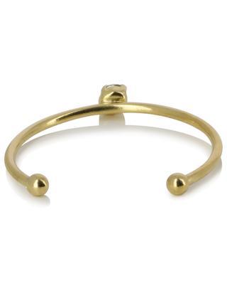 Paris golden adjustable ring with green crystal CAROLINE NAJMAN