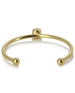 Paris golden adjustable ring with black crystal CAROLINE NAJMAN